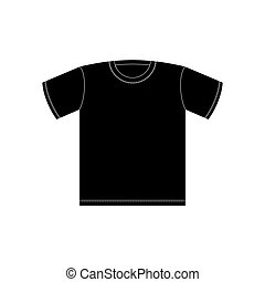 black t shirt template isolated on white background blank t shirt
