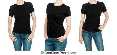 black , t-shirts, verzameling