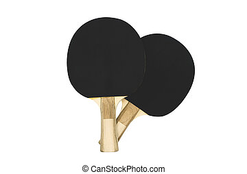 Black table tennis rackets