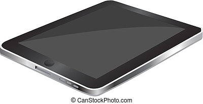 Black Tablet Graphic Vector for Showcase you can add images...