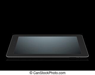black tablet pc