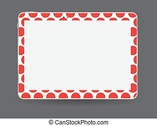 Black Tablet PC Vector Illustration