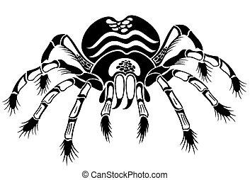 Black tarantula - Tattoo spider