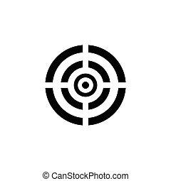 Black target icon.