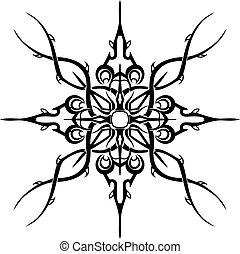 Black tattoo pattern