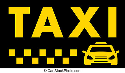 black taxi background