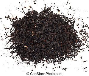black tea on a white background