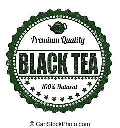 Black tea stamp