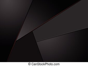 Black tech corporate background with red lines