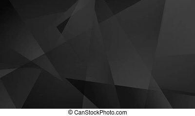 Black technology geometric low poly video animation - Black...