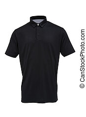 Black tee shirt for man or woman isolated