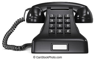 Black telephone.