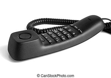 Black telephone handset