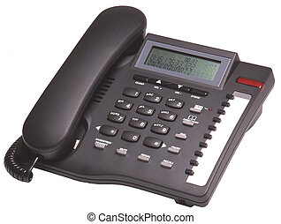 Black telephone with display