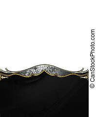 Black texture with antique decoration. Template for design....