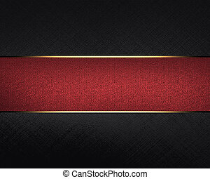 Black texture with red stripes. Template for design. copy space for ad brochure or announcement invitation