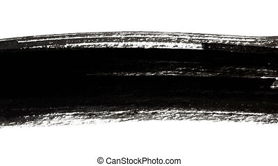Black thick line - Abstract Ink Brush Strokes