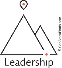 black thin line leadership logo