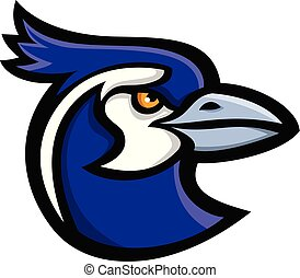 black-throated-magpie-jay-head-MASCOT - Mascot icon...