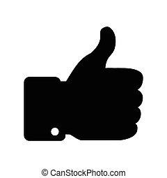 Black Thumb Up icon