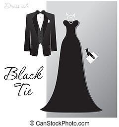 black-tie - Dress code - Black tie. The man - a black tuxedo...