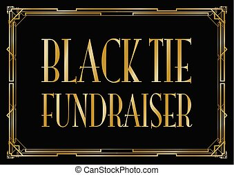 black tie fundraiser Art Deco background