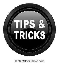 black , tips, pictogram, trucs