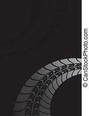 Black tire track background