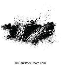 Black tire track background