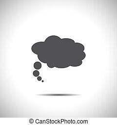 black , toespraak, vector, bel, pictogram