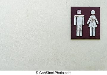 Black Toilet label