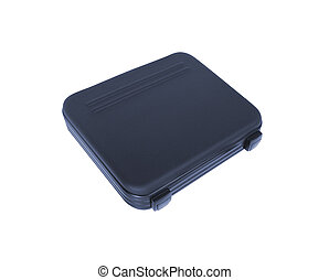 Black tool box isolated on white background