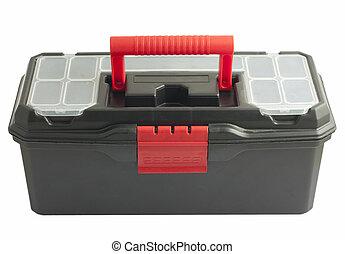Black toolbox on white background