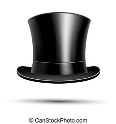 Black top hat  - Black top hat