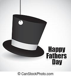 black top hat hanging, vector illustration