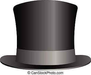 Black Top Hat illustration isolated on white background...