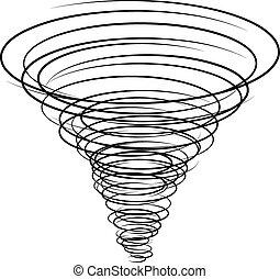 black tornado symbol - illustration for the web
