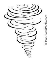 black tornado symbol - isolated black tornado symbol from...