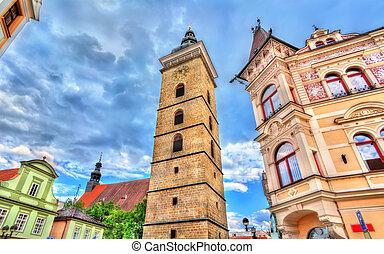 Black Tower, a16th century tower in Ceske Budejovice, Czech Republic.