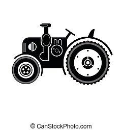 Black tractor icon