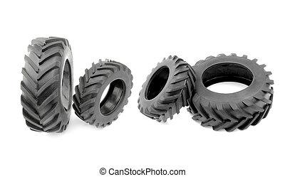 Black tractor tires