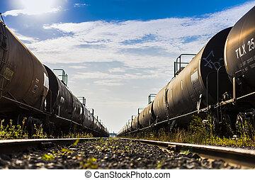 Black Train Car