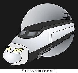 Black train - Creative design of black train