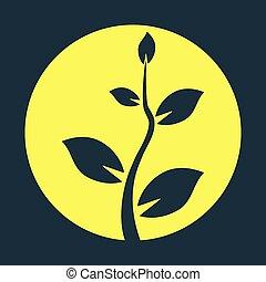 Black tree silhouette - Vector illustration