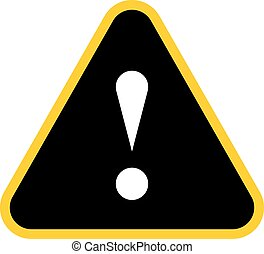 Black triangle exclamation mark icon warning sign