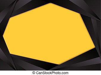 Black triangle frame border