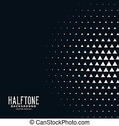 black triangle halftone vector background