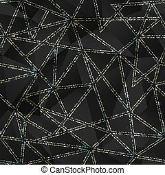 Black triangle pattern with grunge effect.