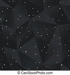Black triangle seamless pattern with grunge effect.