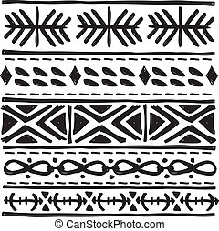 black tribal motif